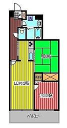 ジオン川口[4階]の間取り