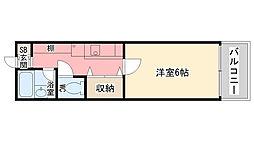 香櫨園桜ハイツ[202号室]の間取り