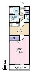 SunRise三番館[1階]の間取り