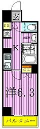 ザ・レジデンス・オブ・トーキョーC18[6階]の間取り