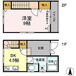 [テラスハウス] 静岡県磐田市安久路2丁目 の賃貸【/】の間取り
