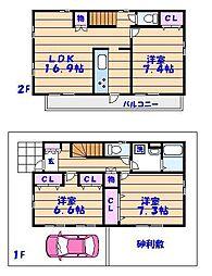 [一戸建] 千葉県市川市若宮3丁目 の賃貸【/】の間取り