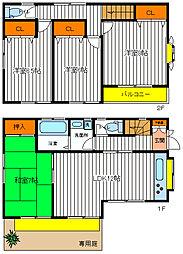 [一戸建] 東京都立川市錦町1丁目 の賃貸【東京都 / 立川市】の間取り