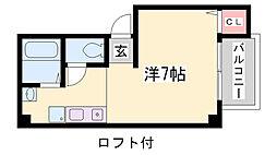 パイン神戸三宮[4階]の間取り