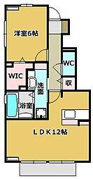 セジュール赤坂 B[1階]の間取り