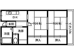 山内マンション[305号室]の間取り