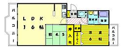 レジデンス和白1・2[2階]の間取り