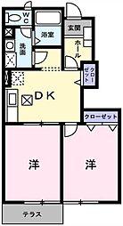 埼玉県吉川市大字吉川の賃貸アパートの間取り