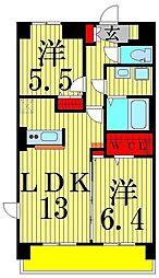 プラティーク六町[603号室]の間取り