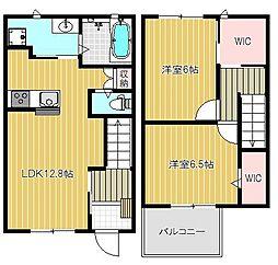 (仮)武庫之荘6丁目ハイツ B棟[102号室号室]の間取り
