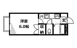 ヤガラハイツ[1階]の間取り
