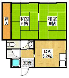 みやもとマンション[205号室]の間取り