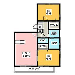 サンティール幸和[3階]の間取り