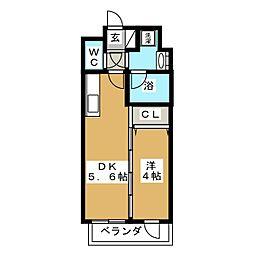 エルスタンザ子平町[2階]の間取り
