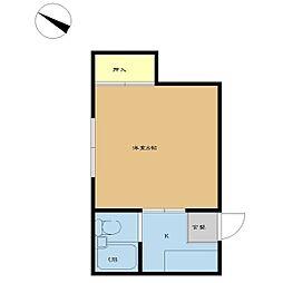 新潟県新潟市中央区美の里の賃貸アパートの間取り