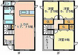 [一戸建] 岡山県岡山市南区福成1丁目 の賃貸【/】の間取り