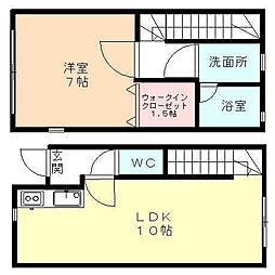 [テラスハウス] 富山県富山市天正寺 の賃貸【/】の間取り