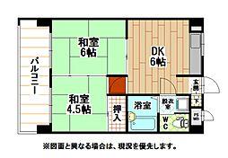 シティハイツ三郎丸[7階]の間取り