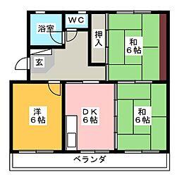 ビクトリ−マンション[4階]の間取り