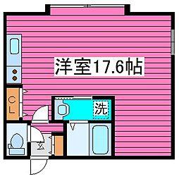 北海道札幌市東区北五十条東7丁目の賃貸アパートの間取り