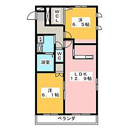 メゾンマイコム[3階]の間取り