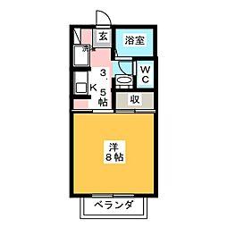 PCパレス[1階]の間取り