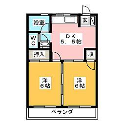 辻広ビル[4階]の間取り
