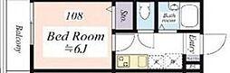 京王井の頭線 永福町駅 徒歩5分の賃貸マンション 1階1Kの間取り