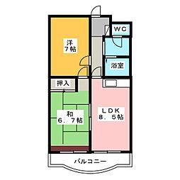 リバティ上島[2階]の間取り