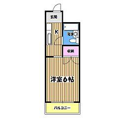 メゾンドールミタカ[2階]の間取り