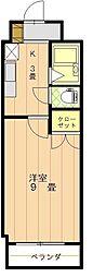 アイディ・ヒルズ平井[206号室]の間取り