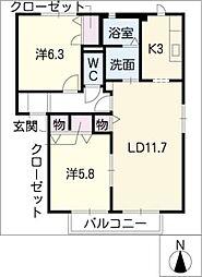 FAMILIO B館[1階]の間取り