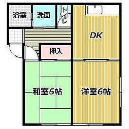 ポテトハウス[A102号室]の間取り