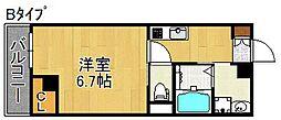 L'ecrin KISINOSATOHIGASI[4階]の間取り