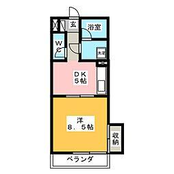コウシンハイツ[2階]の間取り