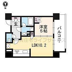 プラネスーペリア京都四条河原町5階[5階]の間取り