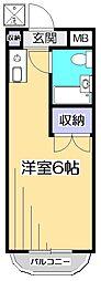 ドミール武蔵台[3階]の間取り