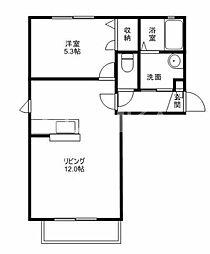 シャーメゾン・アイ弐番館[1階]の間取り