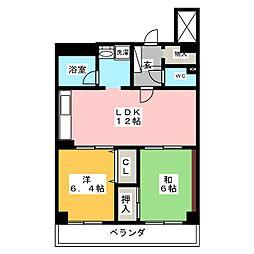 ライオンズマンション八事ガーデン壱番館[3階]の間取り