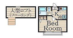 シャトー穂高[2階]の間取り