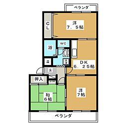 ビューテラス21[2階]の間取り