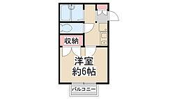兵庫県川西市一庫3丁目の賃貸アパートの間取り