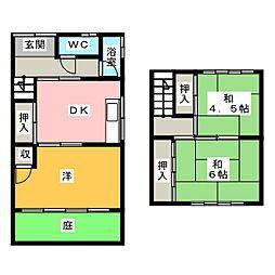 [一戸建] 愛知県名古屋市西区比良4丁目 の賃貸【/】の間取り