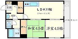 コアロード桃山台[3階]の間取り