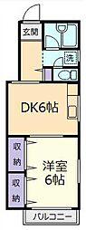 東京都板橋区小豆沢4丁目の賃貸マンションの間取り