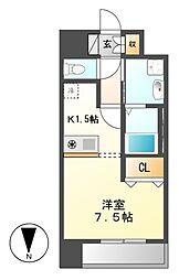 プレサンス名古屋STATIONザ・シティ[11階]の間取り