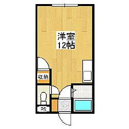 ハイツリバーサイド1[1階]の間取り