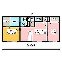 D−room今保 B棟[3階]の間取り