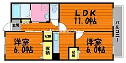 岡山県倉敷市日吉町丁目なしの賃貸マンションの間取り