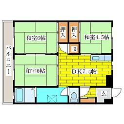 UR北広島駅前市街地住宅2[5階]の間取り